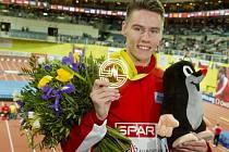 Pavel Maslák obhájil na halovém mistrovství Evropy v Praze v běhu na 400 metrů zlato.
