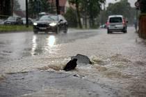 Zaplavená silnice - ilustrační foto