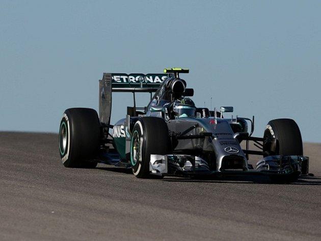 Nico Rosberg v kvalifikaci na Velkou cenu USA.