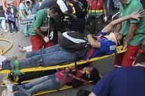Nehoda příměstského vlaku v argentinské metropoli Buenos Aires.