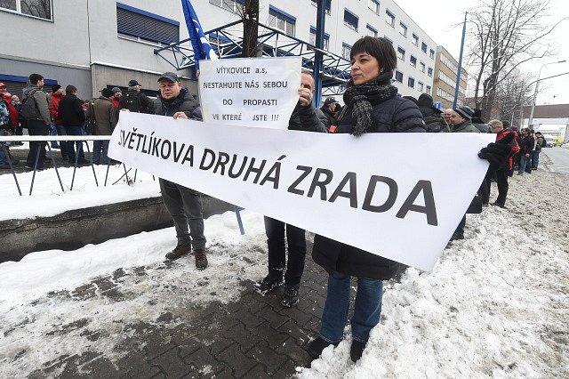 Demonstrace zaměstnanců Vítkovice Power Engineering, Vítkovické strojírny