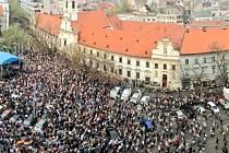 Demonstrace za slušné Slovensko