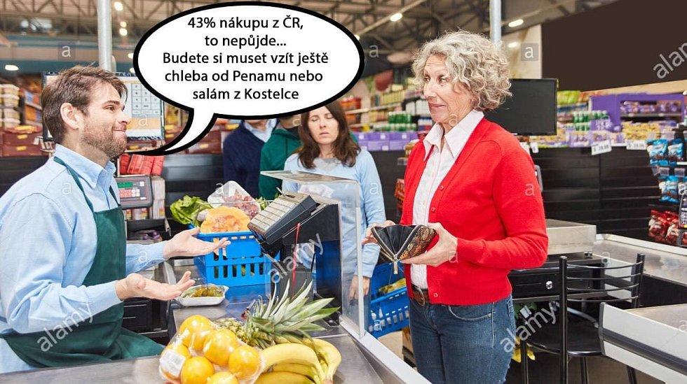 Povinné kvóty na podíl povinně prodávaných českých potravin pobouřily spotřebitele a pobavily internetové vtipálky