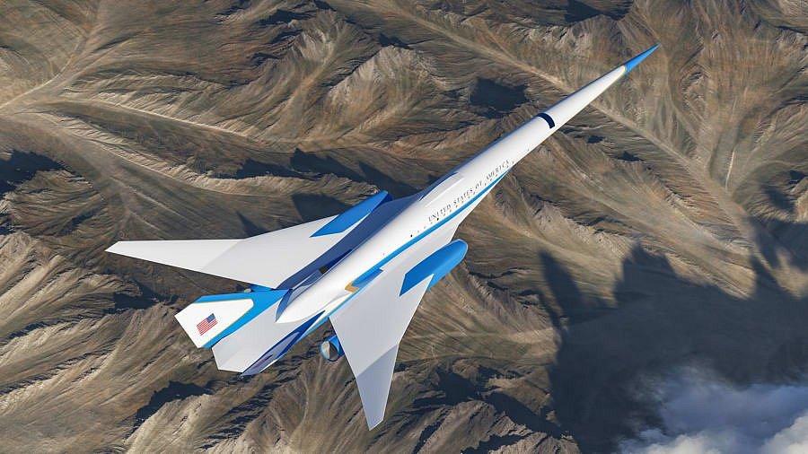 Vizualizace leteckého speciálu pro čelní představitele USA od společnosti Exosonic