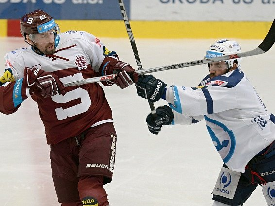 Jan Hlaváč v semifinále proti Plzni