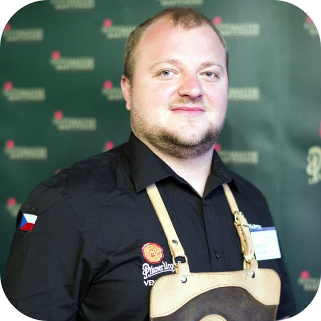 Vítěz regionálního kola soutěže Pilsner Urquell Master Bartender Martin Křížek