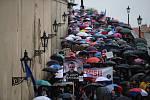 Pochod za nezávislost justice v Praze