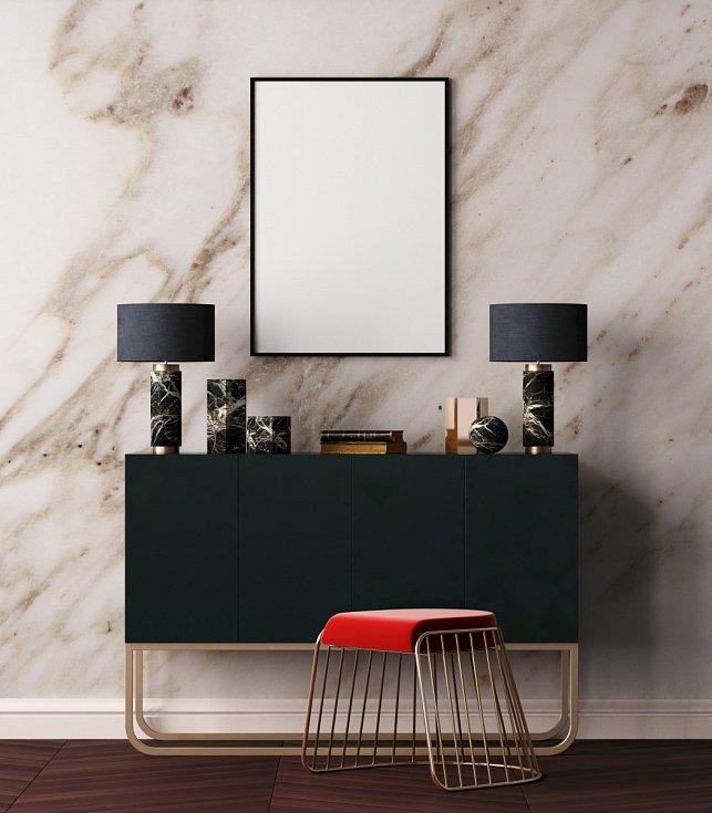 Rozhodně se nebojte černé barvy, zejména v lesklém provedení. Kombinujte ji s kovovými odstíny, jako jsou šedozelená či tmavě modrá. Art deco však milovalo i červenou a oranžovou.