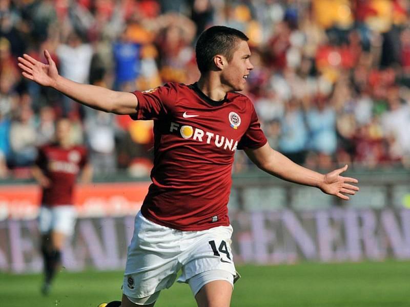 Souboj prvního týmu s posledním v sobotu na Letné rozhodl v 50. minutě domácí mladík Václav Kadlec.