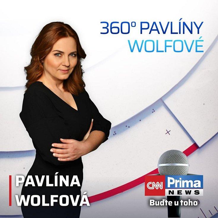 Pavlína Wolfová na stanici CNN Prima News