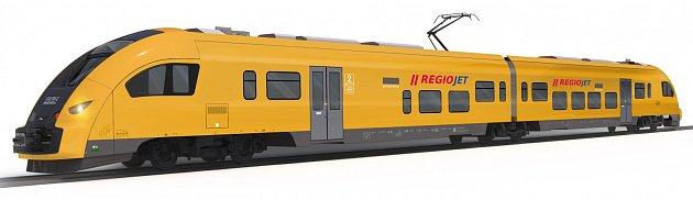 Vizualizace vlaků RegioJetu pro Ústecký kraj