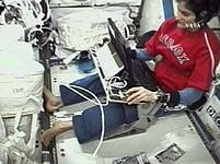Sunita Wiliamsová na palubě ISS.