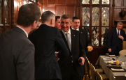 Andrej Babiš se před schůzkou s Trumpem sešel s americkými investory.