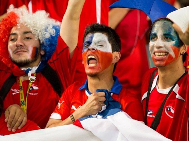Fanoušci Chile na mistrovství světa.