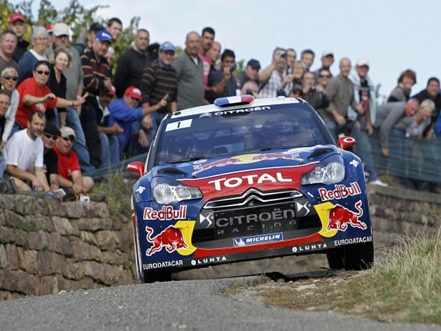 Sébastien Loeb na Francouzské rallye.