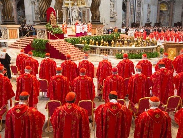 Ve Svatopetrském chrámu ve Vatikánu dnes začala mše za účasti kardinálů, kteří se od dnešního odpoledne začnou scházet k volbě nového papeže.
