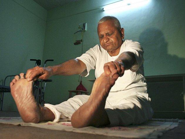 Populární indický bojovník proti korupci Anna Hazare.