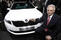 Automobilka Škoda Auto představila v Ženevě na koncernovém večeru VW Group před nadcházejícím ženevským autosalonem koncept vozu Škoda Vision D.