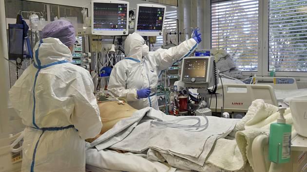 Covidové oddělení nemocnice ve Zlíně