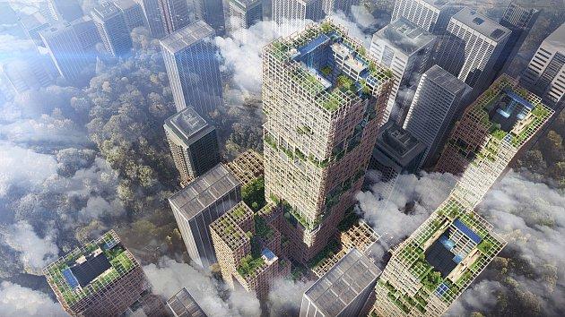 Nejvyšší dřevěný mrakodrap na světě bude měřit 350 metrů.
