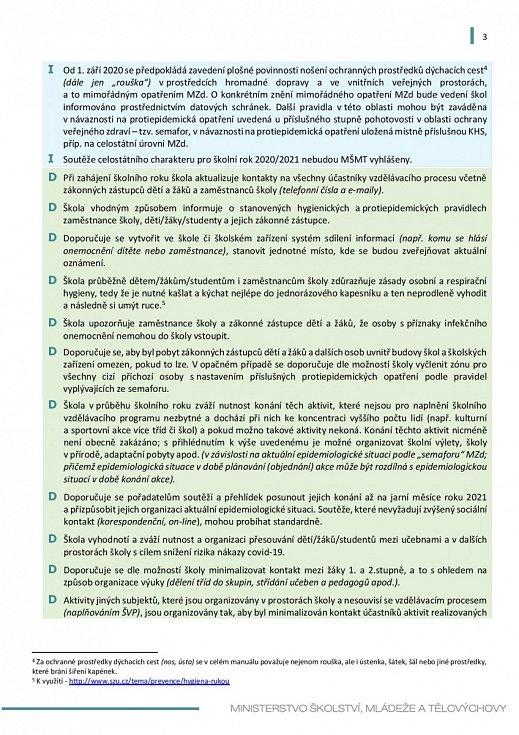 Manuál pro výuku na školách v době koronaviru - strana 3
