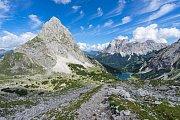 Masiv Miemingeru v tyrolské části rakouských Alp