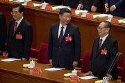 prezident Si Ťin-pching (uprostřed)