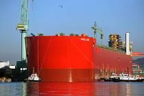 Největší loď světa, plovoucí továrna Prelude společnosti Shell