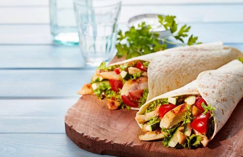 Tortillas opečenou zeleninou