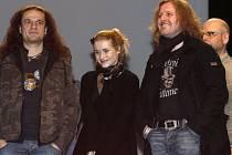 V pražském Divadle Hybernia se uskutečnila 21. února 2008 tisková konference k obnovené premiéře úspěšného muzikálu Tři mušketýři. Na snímku vlevo Alan Bastien a Josef Vojtek třetí zleva.