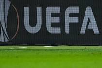 Logo UEFA, Evropská fotbalová liga - ilustrační foto.