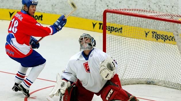 Čeští hokejbalisté na mistrovství světa porazili v semifinále Slovensko a zahrají si o zlato.