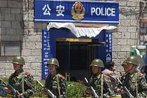 Čínská policie bdí - ilustrační foto.