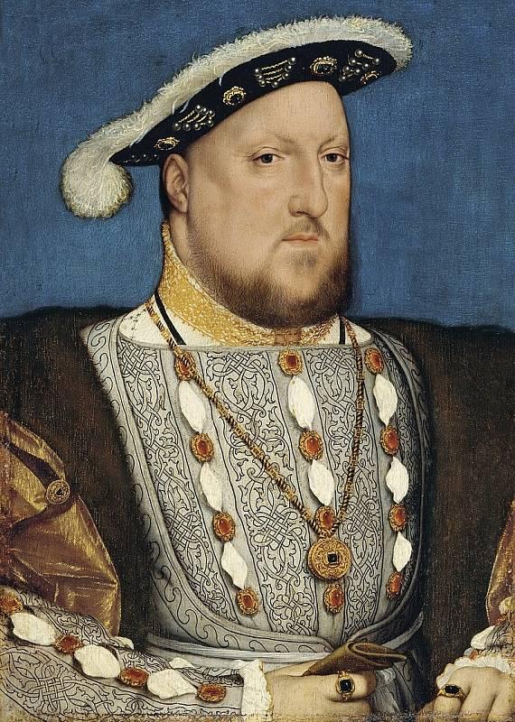 Jindřich VIII. zemřel ve věku šestapasedát let. V té době byl silně obézní, trpěl mnoha zdravotními problémy a ani jeho psychický stav nebyl ideální. Autorem portrétu je Hans Holbein mladší.