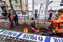 Lupiči se do trezoru banky v diamantové čtvrti belgických Antverp prokopali z kanalizace