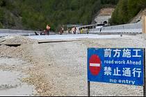 Stavba dálnice, která propojí černohorský Bar se Srbskem. Práce provádí čínská firma CRBC