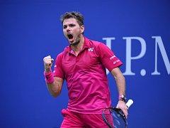 Stan Wawrinka ve finále US Open.