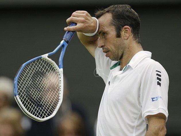 Radek Štěpánek na Wimbledonu.