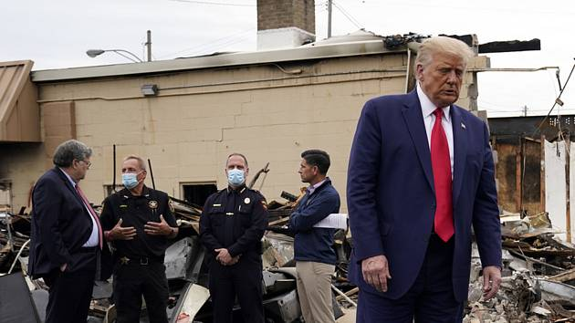 Americký prezident Donald Trump ve městě Kenosha, 1. září 2020