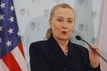 Hillary Clintonová v Praze.