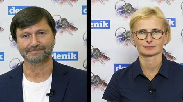 Jan Hrušínský a Kateřina Konečná.