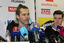 Jaromír Jágr na tiskové konferenci