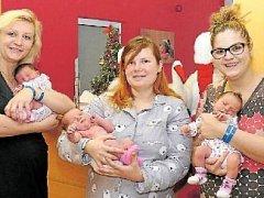 miminka narozená v Chrudimi na Štědrý den