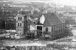Kostel s ocelovou konstrukcí před přesunem