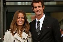 Andy Murray s manželkou Kim Searsovou