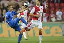 Slavia - Baník: Milan Škoda a Ján Greguš