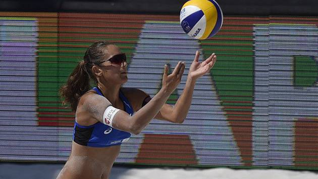 Česká plážová volejbalistka Martina Bonnerová.