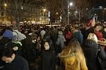 Demonstrace, Zemane - ČT nedáme na Václavském náměstí.