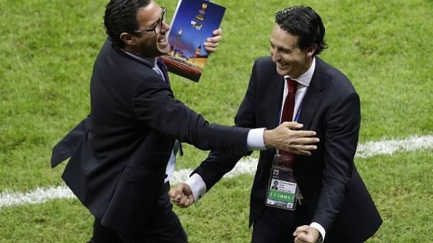Dněpr - Sevilla: Unai Emery slaví vítězství