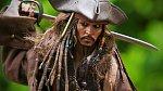 Johny Depp jako Jack Sparrow ve filmu Piráti z Karibiku.
